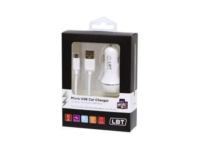 LBT DUAL PORT MICRO USB CAR CHARGER