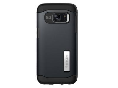 size 40 52387 47762 Spigen Samsung Galaxy S7 Edge Case Slim Armor METAL SLATE