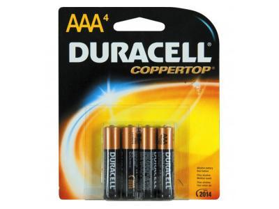 DURACELL 4 AAA BATTERY
