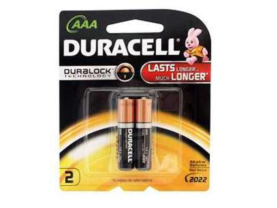 DURACELL AAA 2 PACK 5000394026568