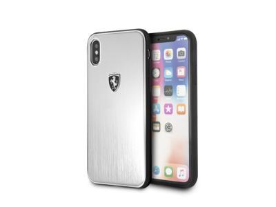 Ferrari-Heritage-Aluminium-Hard-Case-Silver-Black-Logo-iPhone-X