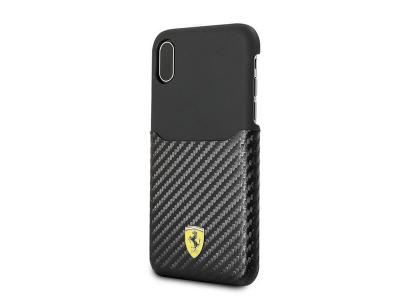 Ferrari iPhone X Hard Case Black Carbon