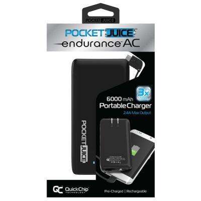 Tzumi PocketJuice Endurance AC 6,000 mAh Portable Charger
