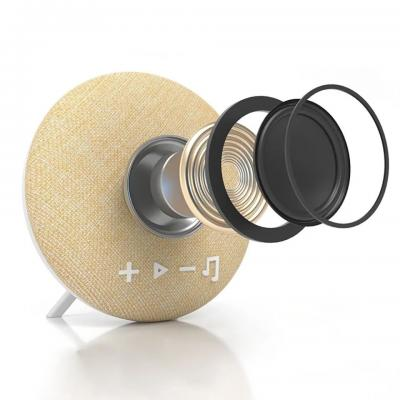 Tzumi Deco Series Small Round Fabric Bluetooth Speaker