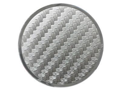 Tzumi Nuckees Trends Phone Grip - Silver Carbon Fiber