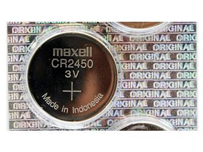 Maxell CR2450 3V Lithium Battery 5 pack